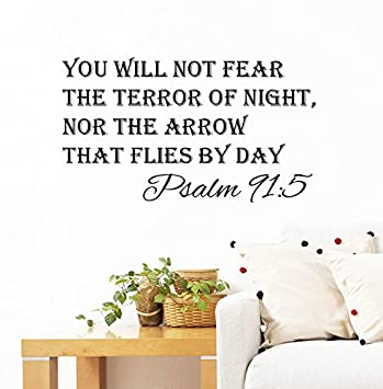 Amazoncom Wall Decals Quotes Psalm Quote Bible Verse Arrows - Wall decals quotes bible