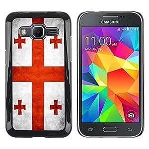 Be Good Phone Accessory // Dura Cáscara cubierta Protectora Caso Carcasa Funda de Protección para Samsung Galaxy Core Prime SM-G360 // National Flag Nation Country Georgia