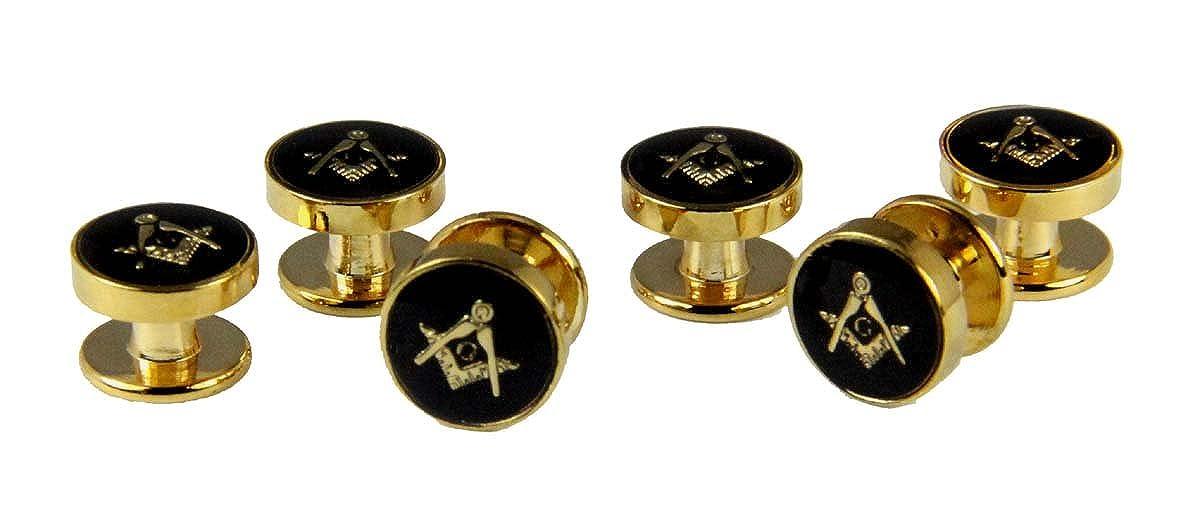 4031811 Mason Tuxedo Studs Masonic Freemason Set Tux Shirt Square Compass The Quiet Witness