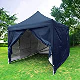 Quictent Privacy 8×8 EZ Pop Up Canopy Tent Instant Folding Party Tent Waterproof 9.2ft Blue