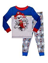 Paw Patrol Boy's Long Sleeve and Long Leg Pajama,2 Piece PJ Set,Navy,100% Cotton,Toddler Boy's Size 2T to 5T