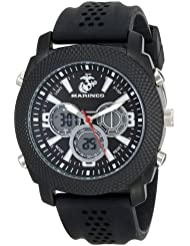 Wrist Armor Mens 37100003 C21 Analog-Digital Display Quartz Watch with Black Silicone Strap