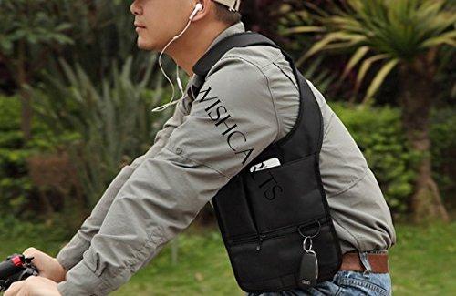 Dxlta Borse A Tracolla Tattiche Per Uomo Military Outdoorsport Uomo Antifurto Nascosto Sotto Le Ascelle Custodia Multifunzionale Nero