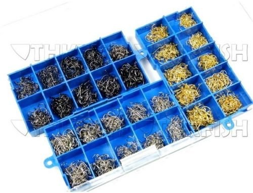 Water Gold Laser Charm (WALLER PAA 1500pcs per lot #3~12 Silver Gold Black Fishhook Fishing Hooks Carbon Hooks)