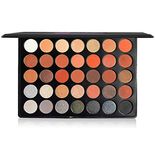 The Beauty Box Artist Eyeshadow Palette , 35 Color Blendable Pigmented Nude Warm Eyeshadow , Matte and Shimmer Makeup for Every Skin Tone , Cosmetics , Showstopper Collection