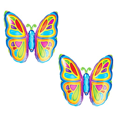 Set of 2 Colorful Bright Butterfly 25