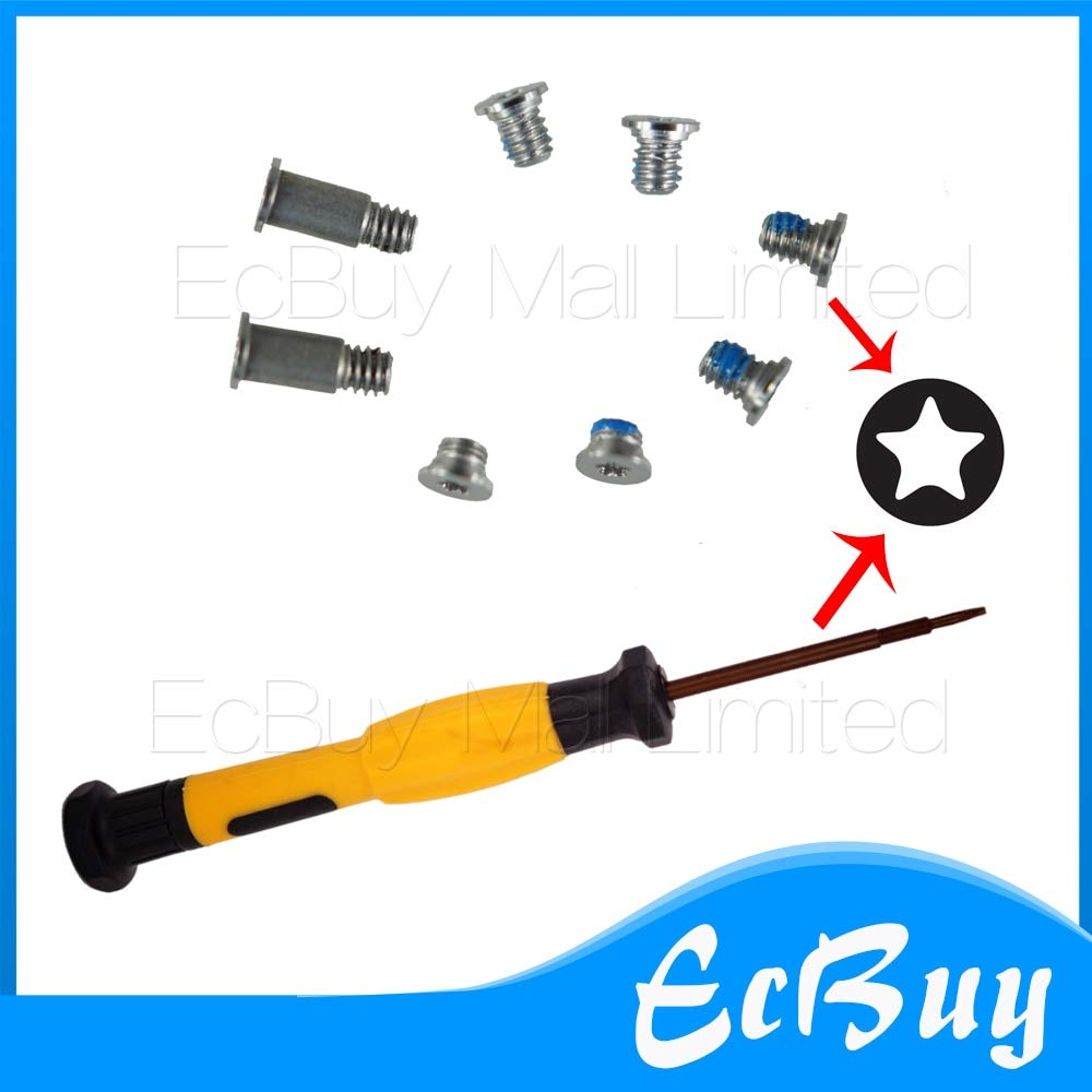 Computer Cables A1534 Screws 8pcs/Lot Gold/Rose Gold/Space Gray/Silver Bottom Case Cover Screws Screw+Screwdriver for 12'' MacBook A1534 - (Cable Length: 5sets, Color: Rose Gold)