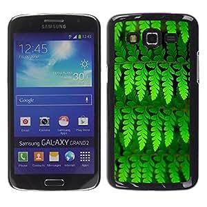 Be Good Phone Accessory // Dura Cáscara cubierta Protectora Caso Carcasa Funda de Protección para Samsung Galaxy Grand 2 SM-G7102 SM-G7105 // Leaves Green Vibrant Summer Nature