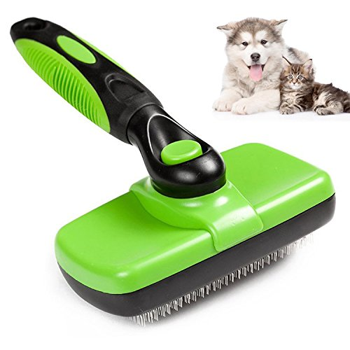 Catnee Self Cleaning Slicker Brush - Dog Shedding Brush/Cat Brush Professional Pet Grooming Comb Remove the Tangled Fur from the Cat and Dog (Slicker Cleaning Self)