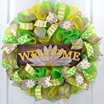 Daisy-Wreath-Spring-Flower-Everyday-Deco-Mesh-Door-Wreath-Burlap-Yellow-White-Green
