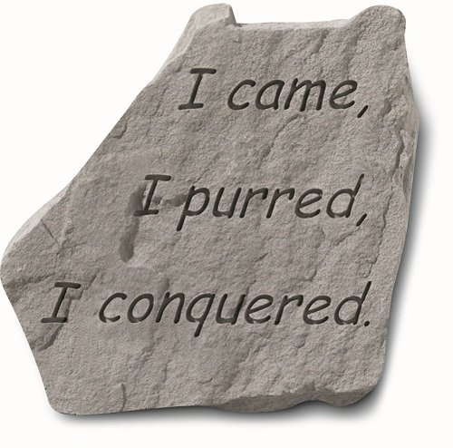 KayBerry Cat Owner Garden Accent Stone I came I purred 91520