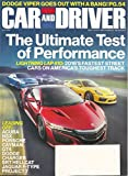 Car and Driver magazine - October 2016 - 2016's Fastest Street Cars on America's Toughest Track + Dodge Viper Goes Out With a Bang! + more