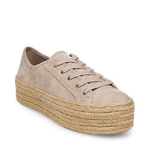 Steve Madden Womens Hamptn-s In Pelle Scamosciata Espadrillas Sneakers Moda In Camoscio Grigio