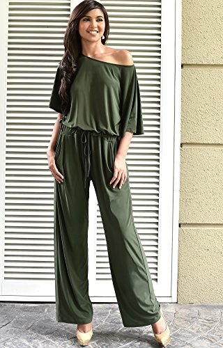 68cc617e085e ... Women Short Sleeve Long Pants One Shoulder Cocktail Casual One Piece Jumpsuit  Jumpsuits Pant Suit Suits Romper Rompers Playsuit Playsuits