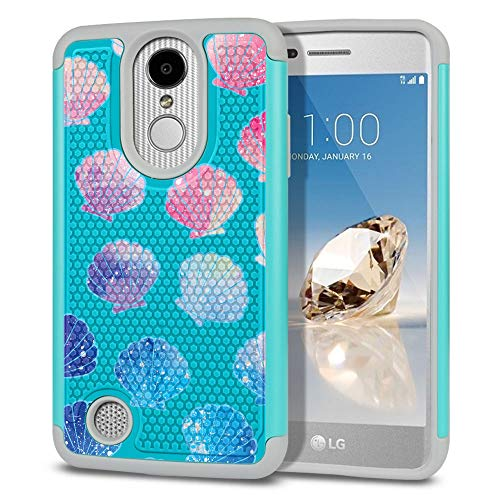 - FINCIBO Case Compatible with LG Aristo MS210 LV3 K8 2017 Phoenix 3 M150 Fortune, Dual Layer Football Skin Hybrid Protector Case Cover TPU for LG Aristo MS210 (NOT FIT K8 2016) - Clamshells Pattern