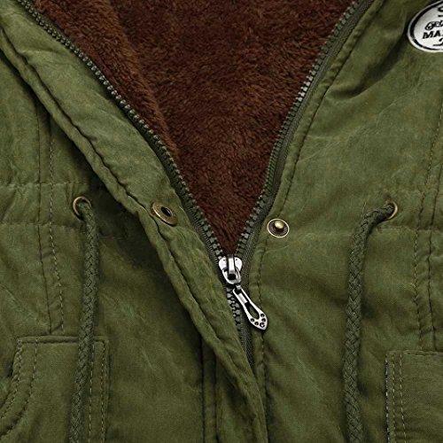 ... MCYs Damen Beiläufig Übergroß Warm Pelzkragen Kapuzenjacke Winter Parka  Outwear Kapuze Designer Winterjacke Outdoor Reißverschluss Jacke ... 2ad9f10d87