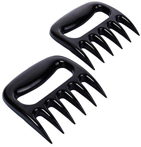 iArtker BBQ Meat Claws Pulled Pork Shredder Bear Paw, Meat Handler Carving Forks-Grill Acessories-Dishwasher Safe , Black