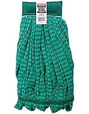 "Rubbermaid Commercial Products FGT85206GR00 Microfiber Tube Mop Head (Medium, 5"" Headband, Green)"