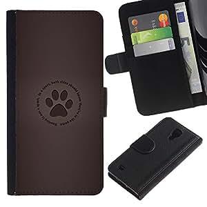 Protector de cuero de la PU de la cubierta del estilo de la carpeta del tirón BY RAYDREAMMM - Samsung Galaxy S4 IV I9500 - Huella