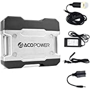 ACOPOWER Solar Generator Portable Power, Compact 111Wh Portable Outlet, Generator Alternative Rechargeable Power...