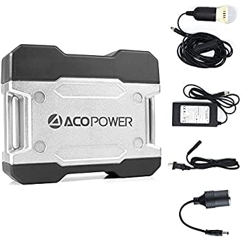 ACOPOWER Solar Generator Portable Power, Compact 111Wh Portable Outlet, Generator Alternative Rechargeable Power Source With DC/AC Power 110VAC Inverter, 12V Car, AC & USB Outputs, LED Light