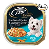Cheap CESAR HOME DELIGHTS Wet Dog Food Slow Cooked Chicken & Vegetables Dinner, (Pack of 24) 3.5 oz. Trays