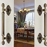 420mm vintage big gate/door handles bronze glass door handles antique brass wood door pulls Europe style door handles fittings