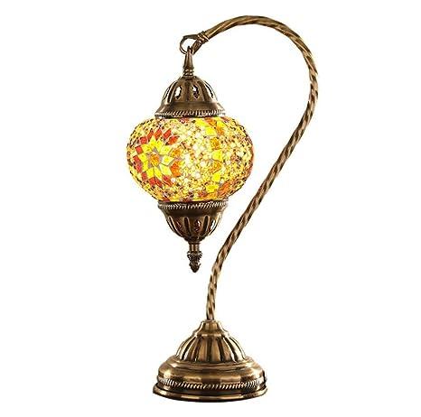 Mejor venta turco marroquí Mesa de Mosaico de Vidrio Lámpara de luz Lámparas de mesilla de noche Iluminación de interiores