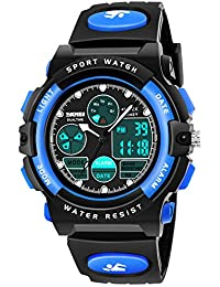 LED 50M Waterproof Digital Sport Watches for Kids with Alarm Timer