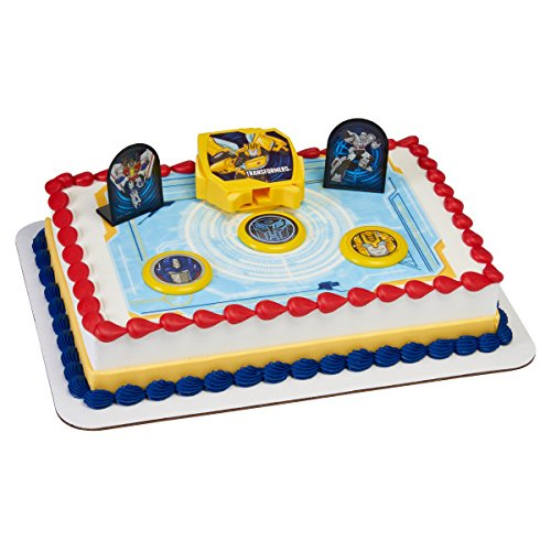 A1 Bakery Supplies Transformers Autobot Battle Cake Topper Decorating Set