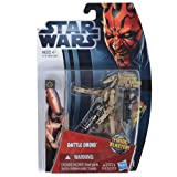 Star Wars Action Figures With Battle Game Card Weapon - Beige Battle Droid 37751