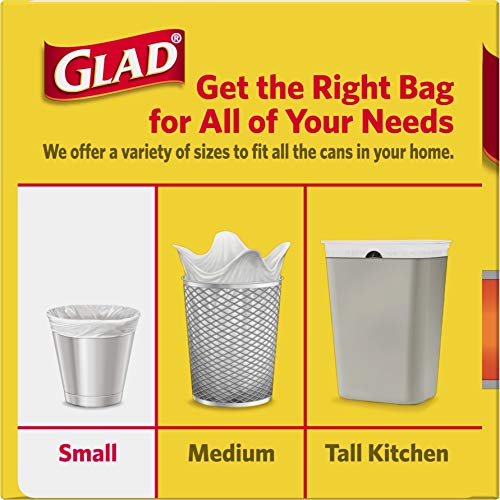 Glad Small Trash Bags - OdorShield 4 Gallon White Trash Bag, Febreze Hawaiian Aloha - 26 Count (Pack of 6)