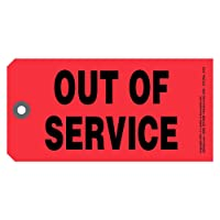 Out of Service Tags 50-pk. - 6.25