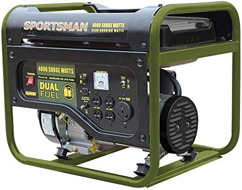 Sportsman 4,000 3,500-Watt Dual Fuel Powered Portable Generator, Runs on LPG or Regular Gasoline