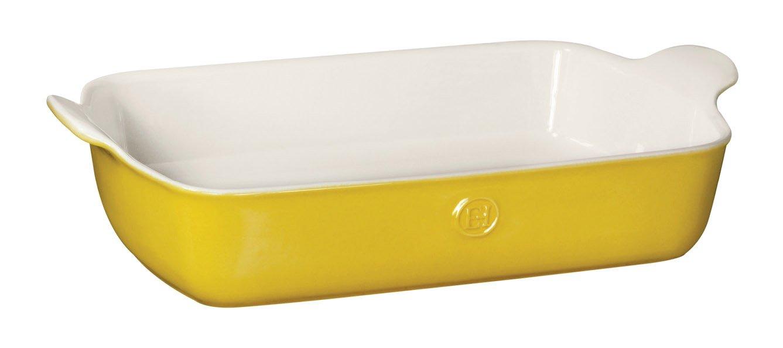 Emile Henry 859629 HR Ceramic Individual Rectangular Baker, Leaves