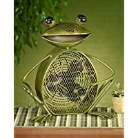 CC Home Furnishings 15 Charming Whimsical Mister Frog Table Top Figure Fan