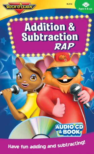 Addition & Subtraction Rap Audio CD and Book by Rock 'N Learn (Rock N Learn Addition And Subtraction Rock)