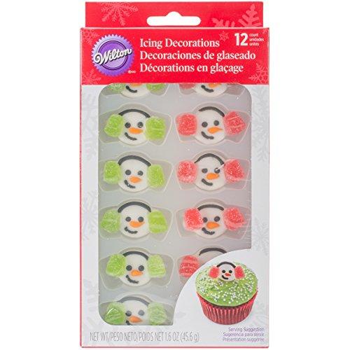 Wilton Snowman Earmuffs Edible Cupcake Toppers]()