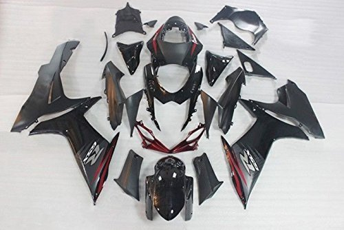 Red w/ Gloss Matte Black Complete Fairing Bodywork Aftermarket Painted ABS plastic Injection Molding Kit for 2011-2016 Suzuki GSXR 600 750 K11 2012 2013 2014 2015