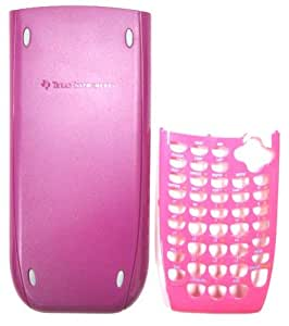 TI 84 PLUS SILVER EDITION SLIDE PURPLE COVER AND HOT PINK FACEPLATE