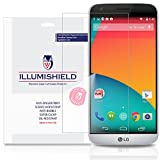 iLLumiShield - LG G5 Screen Protector Japanese Ultra Clear HD Film with Anti-Bubble and Anti-Fingerprint - High Quality Invisible Shield - Lifetime Warranty - [3-Pack]