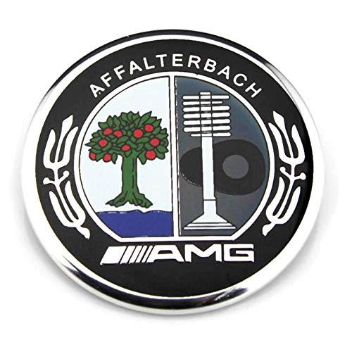 57mm Car Hood Front Bonnet Emblem Badge for AMG Apple Tree A B C E S R SL CL ()