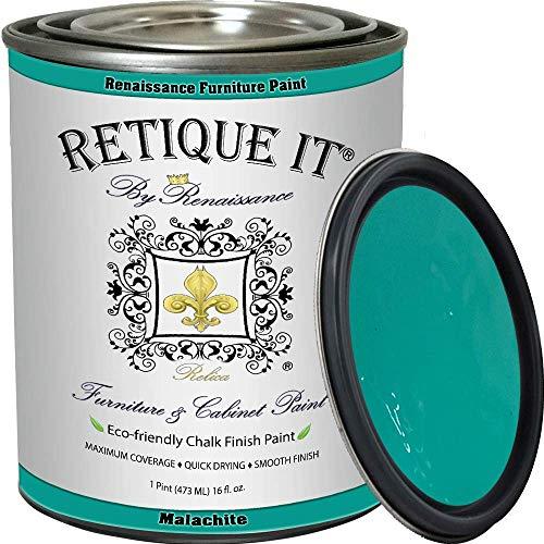 Retique It Chalk Furniture Paint by Renaissance DIY, 16 oz (Pint), 38 Malachite