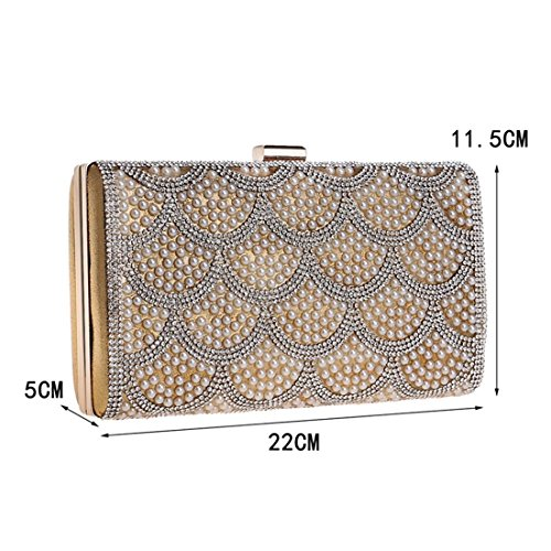 For Women Handbag Flowers Red Color Bag Evening Clutch Gold Purse Fashion Ladies KERVINFENDRIYUN Banquet fgwqHzT