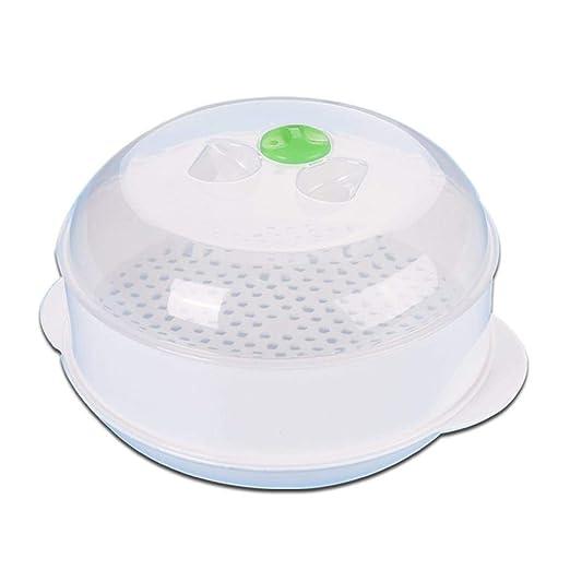 Olla para Microondas Vaporera Redonda De Plástico para ...