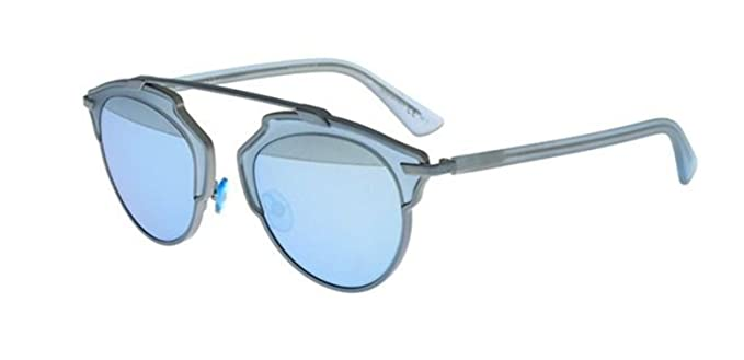 b2cec490b2cb2 Image Unavailable. Image not available for. Color  New Christian Dior SO  REAL RMJ LH matte blue light blue mirror Sunglasses