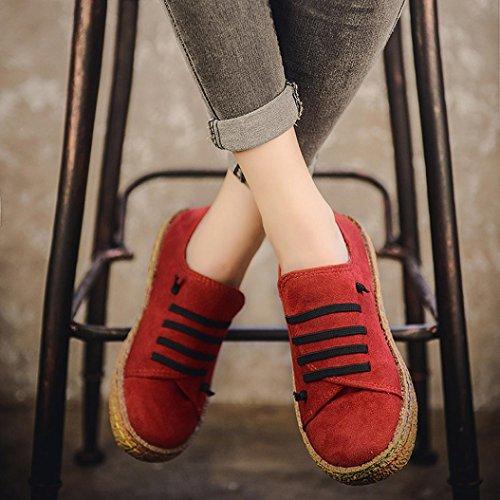 Estivi Royal Primavera Donna Mocassini Rosso per Mocassini Vestito Scarpe Ragazzi Scarpe su Pelle Pantofola per UOMOGO Scamosciata ღ Scivolare ATwFfqWa