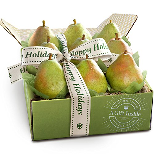 - Golden State Fruit Happy Holidays Imperial Comice Pears Fruit Gift