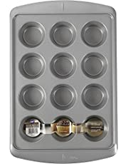 Wilton Ever-Glide Muffin Pan, Enjoy Warm homemade Muffins Right Out of Your Oven, Great for Cupcakes, Roasted Veggies, Shredded Potato Egg Cups and More, 12 Cup