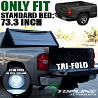 Topline Autopart Tri-Fold Soft Tonneau Cover Jr For 05-16...